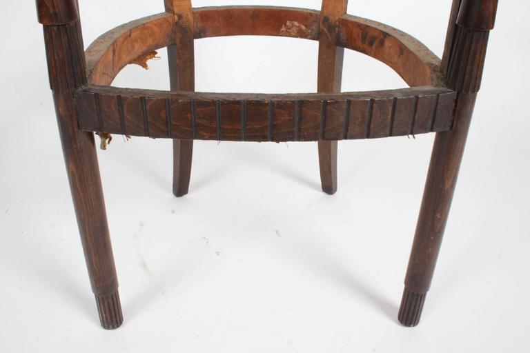 Nice French Art Deco Armchair Frame For Sale 5