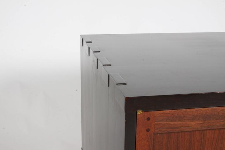 Mid-Century Modern Edward Wormley for Dunbar Rare Janus Cabinet in the Style of Greene & Greene For Sale