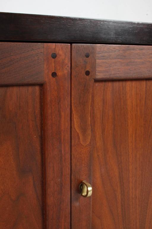American Edward Wormley for Dunbar Rare Janus Cabinet in the Style of Greene & Greene For Sale