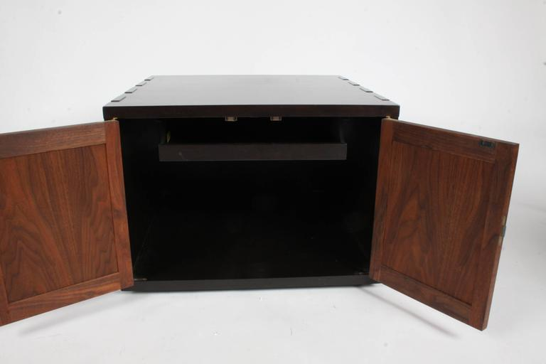 Edward Wormley for Dunbar Rare Janus Cabinet in the Style of Greene & Greene In Excellent Condition For Sale In St. Louis, MO