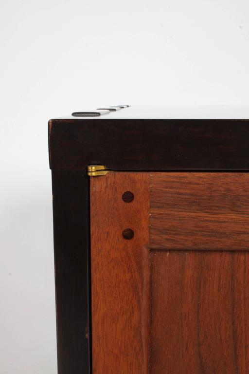 Mid-20th Century Edward Wormley for Dunbar Rare Janus Cabinet in the Style of Greene & Greene For Sale