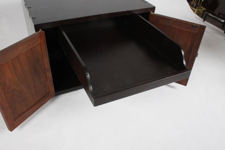 Brass Edward Wormley for Dunbar Rare Janus Cabinet in the Style of Greene & Greene For Sale