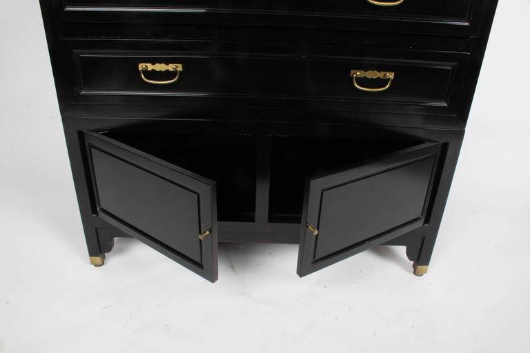 Mid-Century Modern Pair of Michael Taylor for Baker Chest or Nightstands Far East Collection For Sale