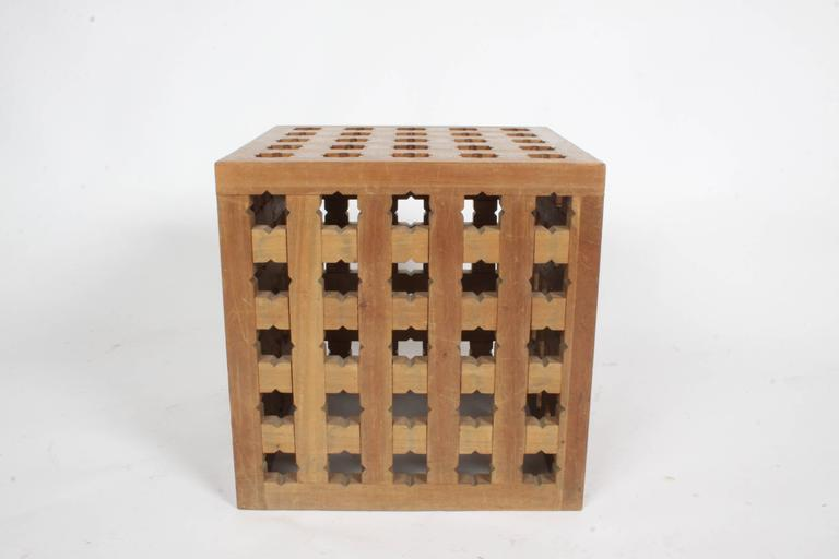 Mid-Century Modern Pair of Cube Tables by Cali Colombian Architect, circa 1960s  For Sale