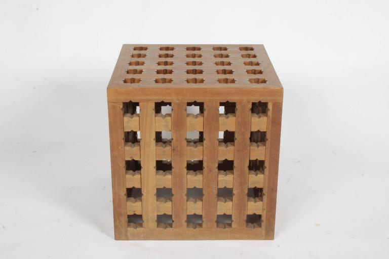 Teak Pair of Cube Tables by Cali Colombian Architect, circa 1960s  For Sale