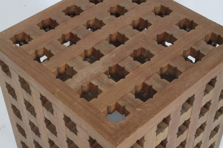 Pair of Cube Tables by Cali Colombian Architect, circa 1960s  For Sale 1
