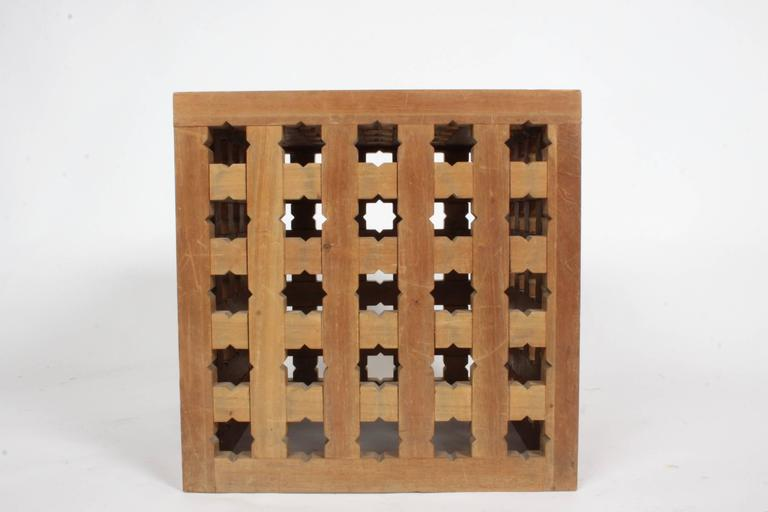 Pair of Cube Tables by Cali Colombian Architect, circa 1960s  For Sale 3