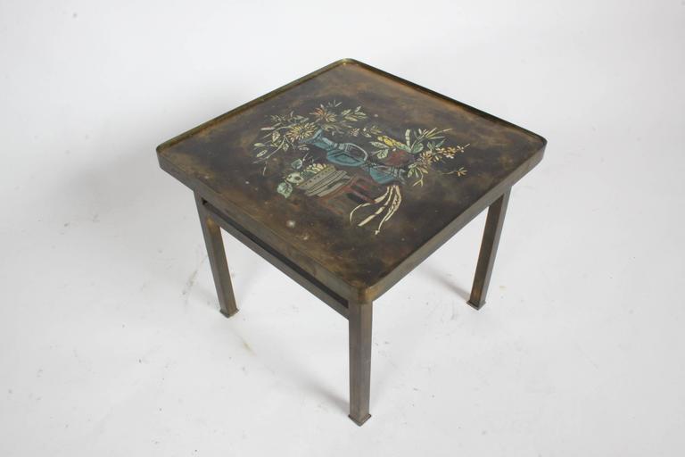 Philip and Kelvin LaVerne Bronze Enamel Side Table Kang Design 2
