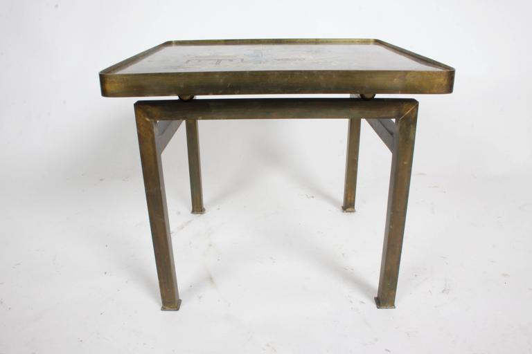 Philip and Kelvin LaVerne Bronze Enamel Side Table Kang Design 4