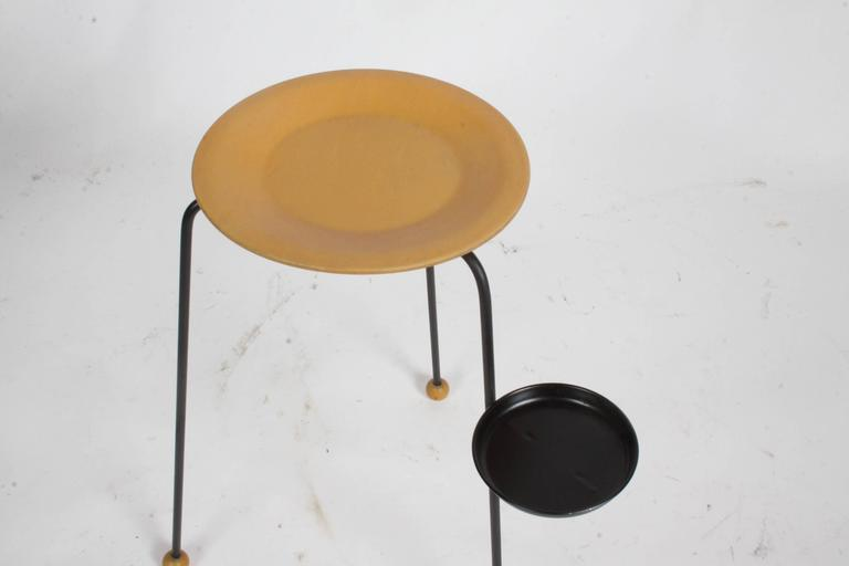 Steel Tony Paul Stacking Side Drink Tables Set of Three Mid-Century For Sale