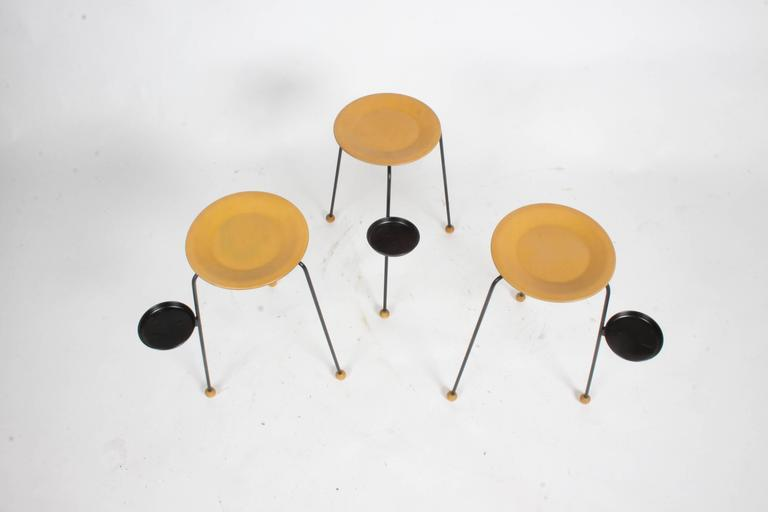 Tony Paul Stacking Side Drink Tables Set of Three Mid-Century For Sale 2