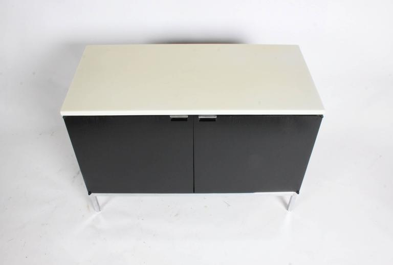Florence Knoll Credenza Marble Top Ebony Stain 2
