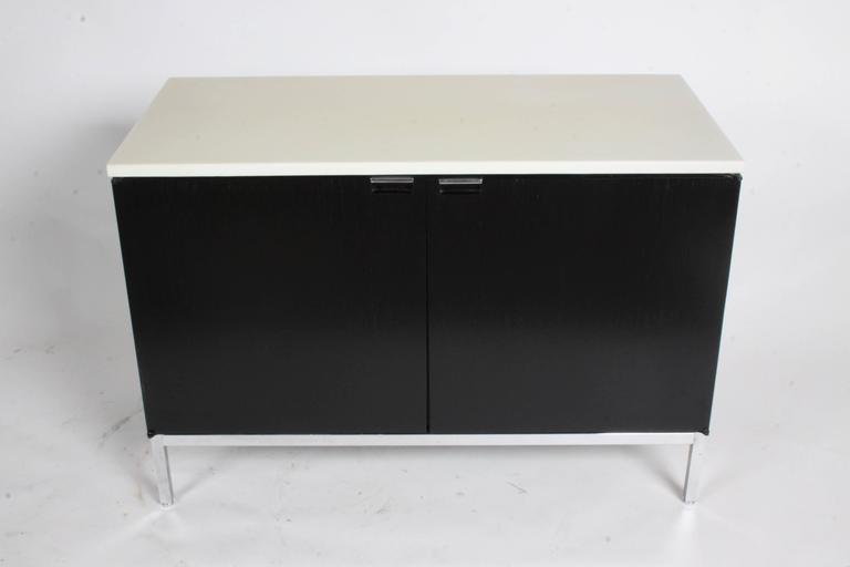 Florence Knoll Credenza Marble Top Ebony Stain 4