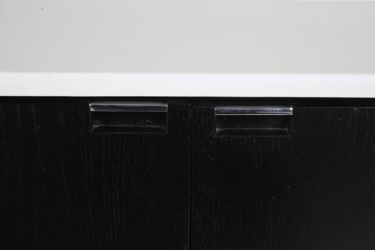 Florence Knoll Credenza Marble Top Ebony Stain 5