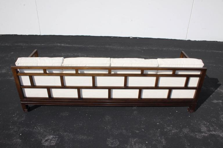 American Michael Taylor Sofa for Baker Far East Collection, circa 1950s For Sale