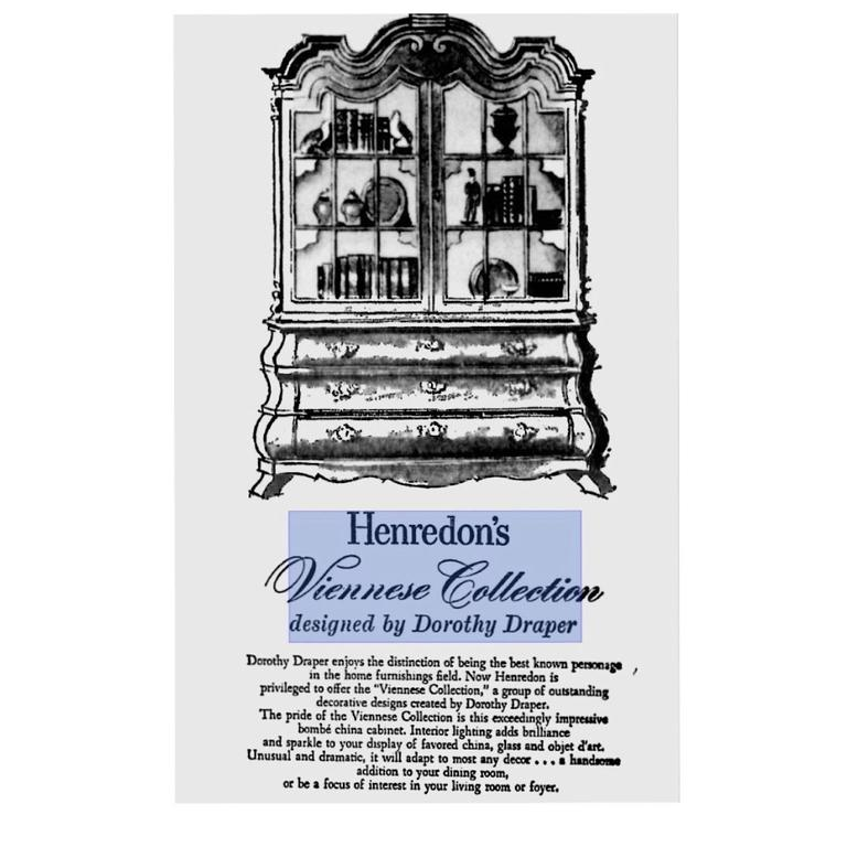 Hollywood Regency Dorothy Draper Viennese Collection Cabinet for Henredon, circa 1963 For Sale