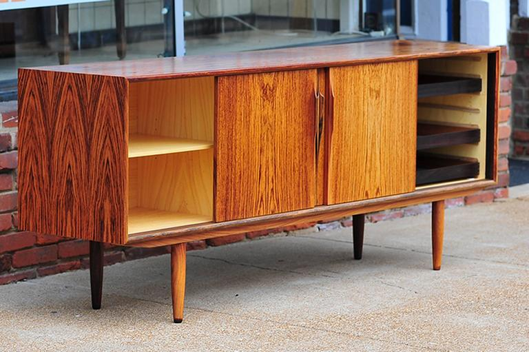 Gunni Omann Rosewood Sideboard or Credenza, Danish Modern In Excellent Condition For Sale In St. Louis, MO