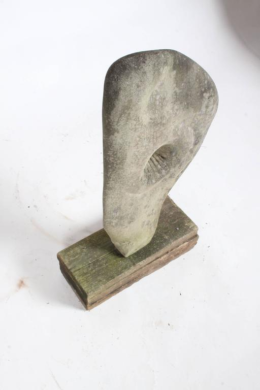 Hand-Carved Barbara Hepworth Organic Style Garden Yard Stone Sculpture  For Sale