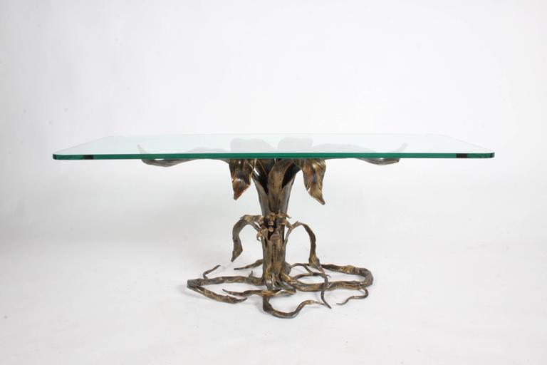 Italian Bertaolami Organic Form Faux Bronze Coffee Table, Italy For Sale