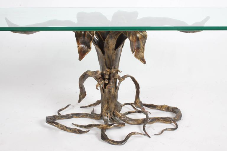 Bertaolami Organic Form Faux Bronze Coffee Table, Italy For Sale 1