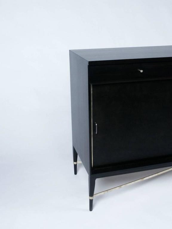 Mid-Century Modern Paul McCobb for Calvin Sideboard with Brass X Strecher For Sale