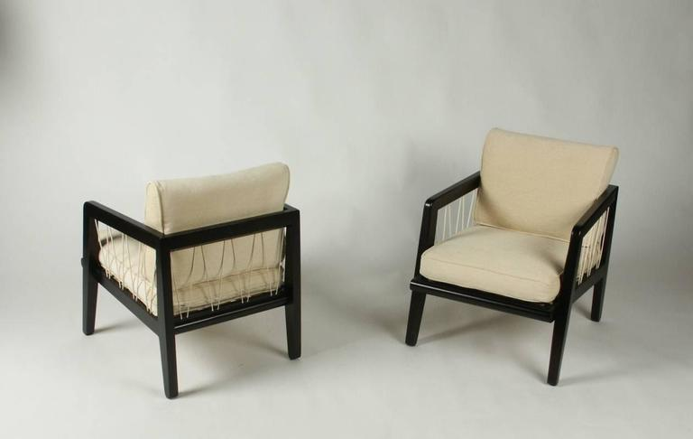 Pair of Edward Wormley Precedent Collection for Drexel Lounge Chairs 3