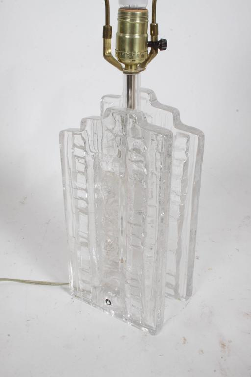 Uno Westerberg for Pukeberg Ice Cube Swedish Glass Table Lamp For Sale 2