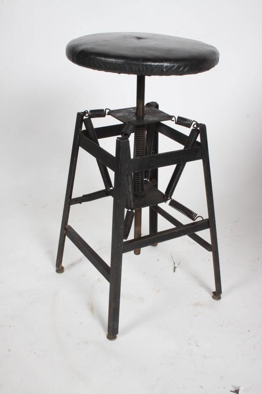 American Cabinet Co. Industrial Architects Drafting Spring Stool In Good Condition For Sale In St. Louis, MO