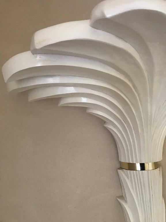Pair of Serge Roche Style Sconces in Stylized Palm Motif 3