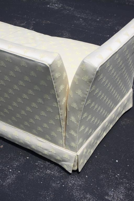 Hollywood Regency Baker Furniture Knole Open-Arm Settee or Loveseat Sofa For Sale