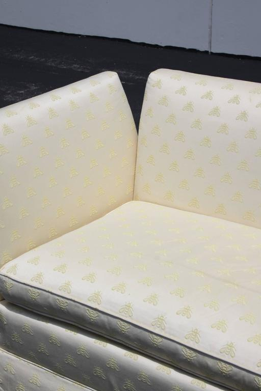 Upholstery Baker Furniture Knole Open-Arm Settee or Loveseat Sofa For Sale