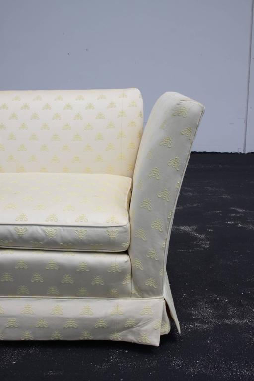 Baker Furniture Knole Open-Arm Settee or Loveseat Sofa For Sale 1