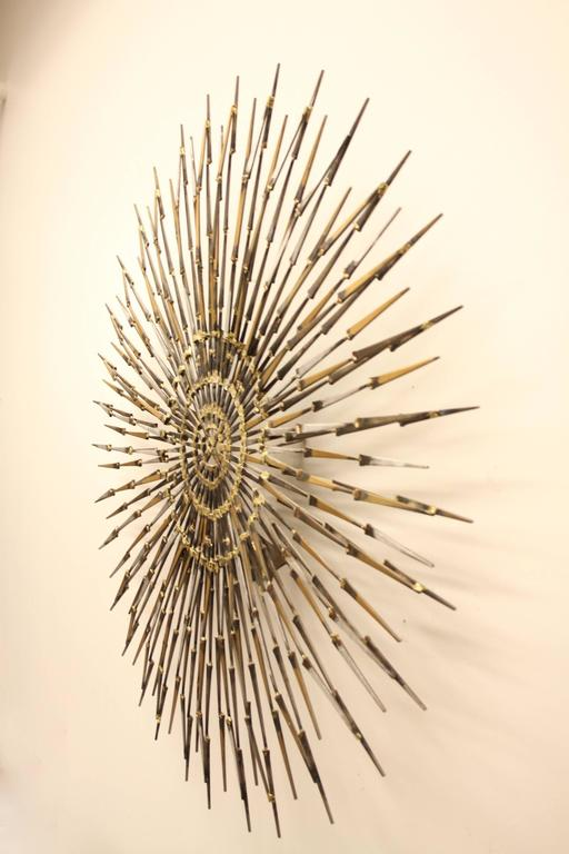 American Marc Weinstein Sun or Starbust Wall Sculpture, circa 1960s For Sale