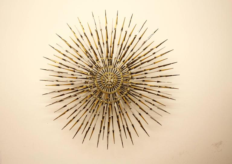 Marc Weinstein Sun or Starbust Wall Sculpture, circa 1960s In Excellent Condition For Sale In St. Louis, MO
