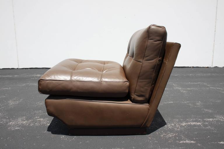 Italian Mario Bellini Leather Lounge Chairs for B&B Italia For Sale