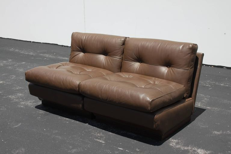 Mid-Century Modern Mario Bellini Leather Lounge Chairs for B&B Italia For Sale