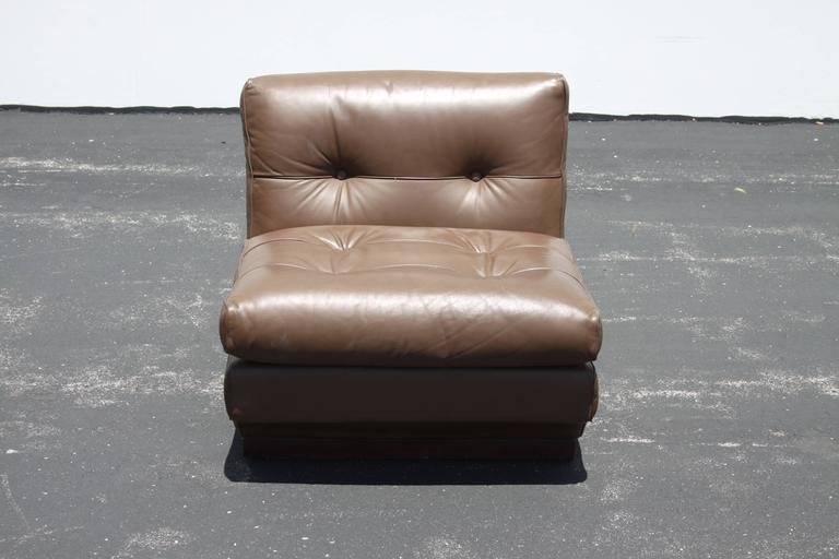 Mario Bellini Leather Lounge Chairs for B&B Italia For Sale 4