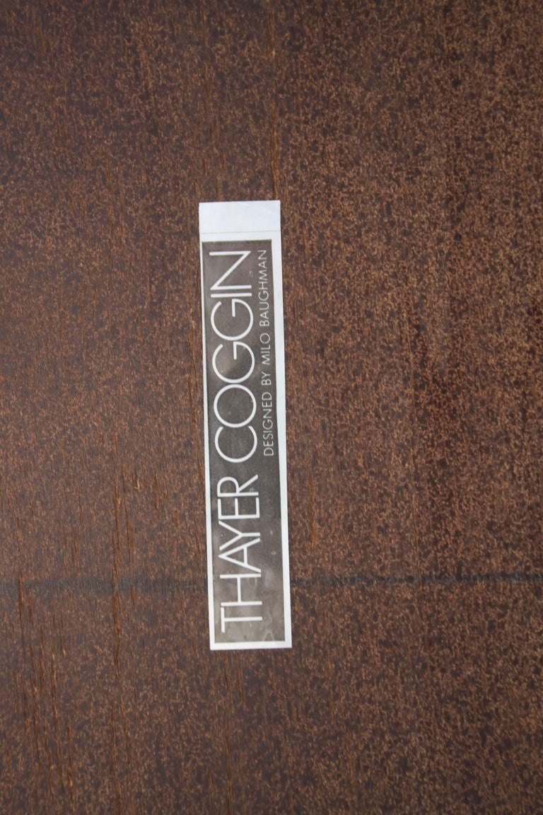Laminate Milo Baughman for Thayer Coggin Large Parsons Dining Table with Two Leaves For Sale