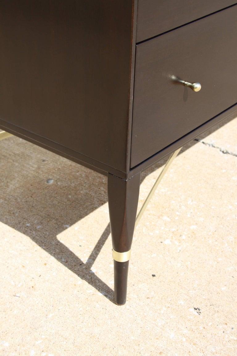American Paul McCobb for Calvin Brass X-Base Eight-Drawer Dresser For Sale
