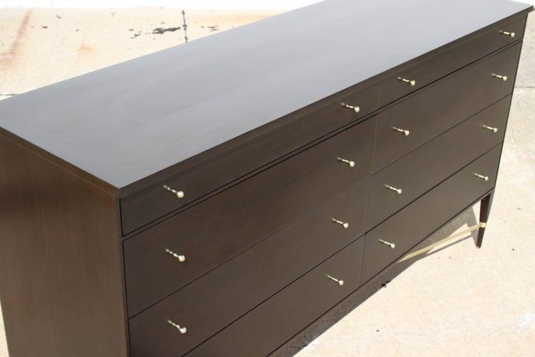 Paul McCobb for Calvin Brass X-Base Eight-Drawer Dresser For Sale 1