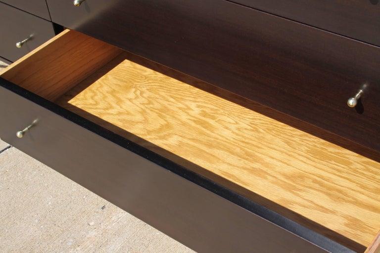 Mid-20th Century Paul McCobb for Calvin Brass X-Base Eight-Drawer Dresser For Sale