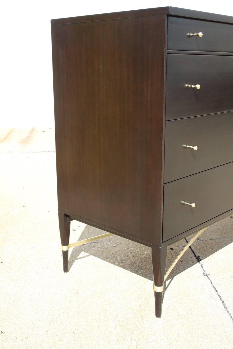 Paul McCobb for Calvin Brass X-Base Eight-Drawer Dresser For Sale 2