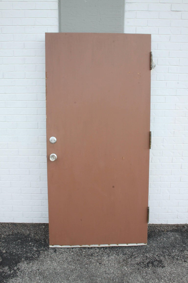 Mid-Century Modern Midcentury Front Entry Door designed by Architect Isadore Shank For Sale