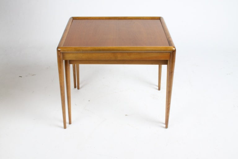 Mid-Century Modern T. H. Robsjohn-Gibbings for Widdicomb Nesting Tables For Sale