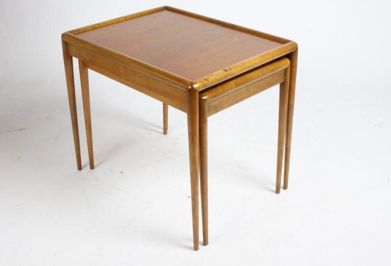 American T. H. Robsjohn-Gibbings for Widdicomb Nesting Tables For Sale