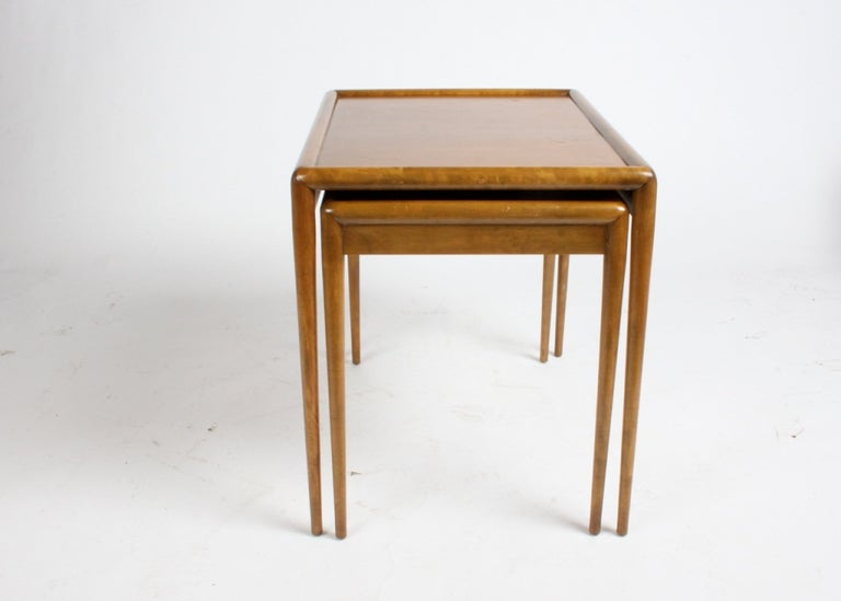 T. H. Robsjohn-Gibbings for Widdicomb Nesting Tables In Excellent Condition For Sale In St. Louis, MO