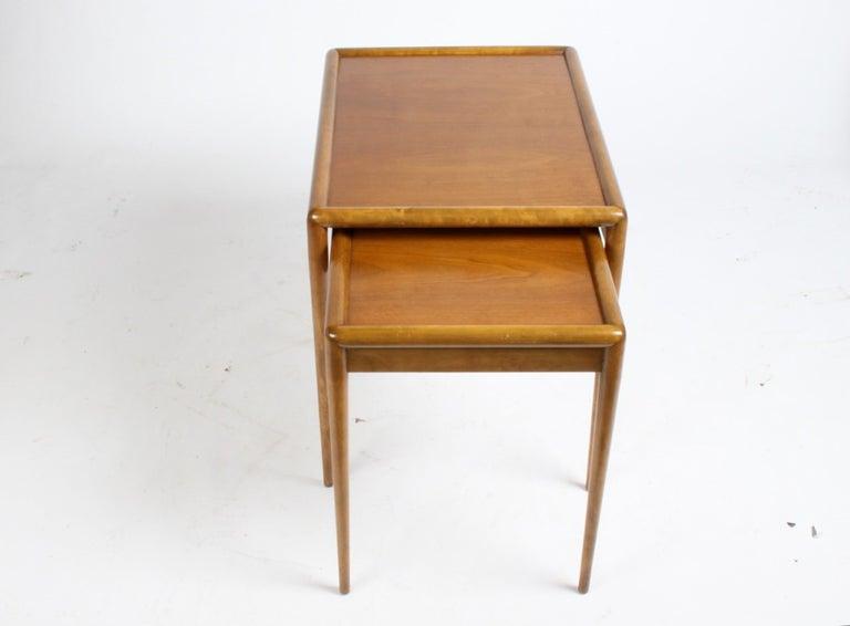 Mid-20th Century T. H. Robsjohn-Gibbings for Widdicomb Nesting Tables For Sale