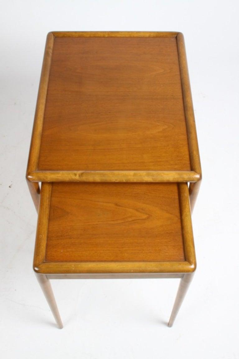Walnut T. H. Robsjohn-Gibbings for Widdicomb Nesting Tables For Sale