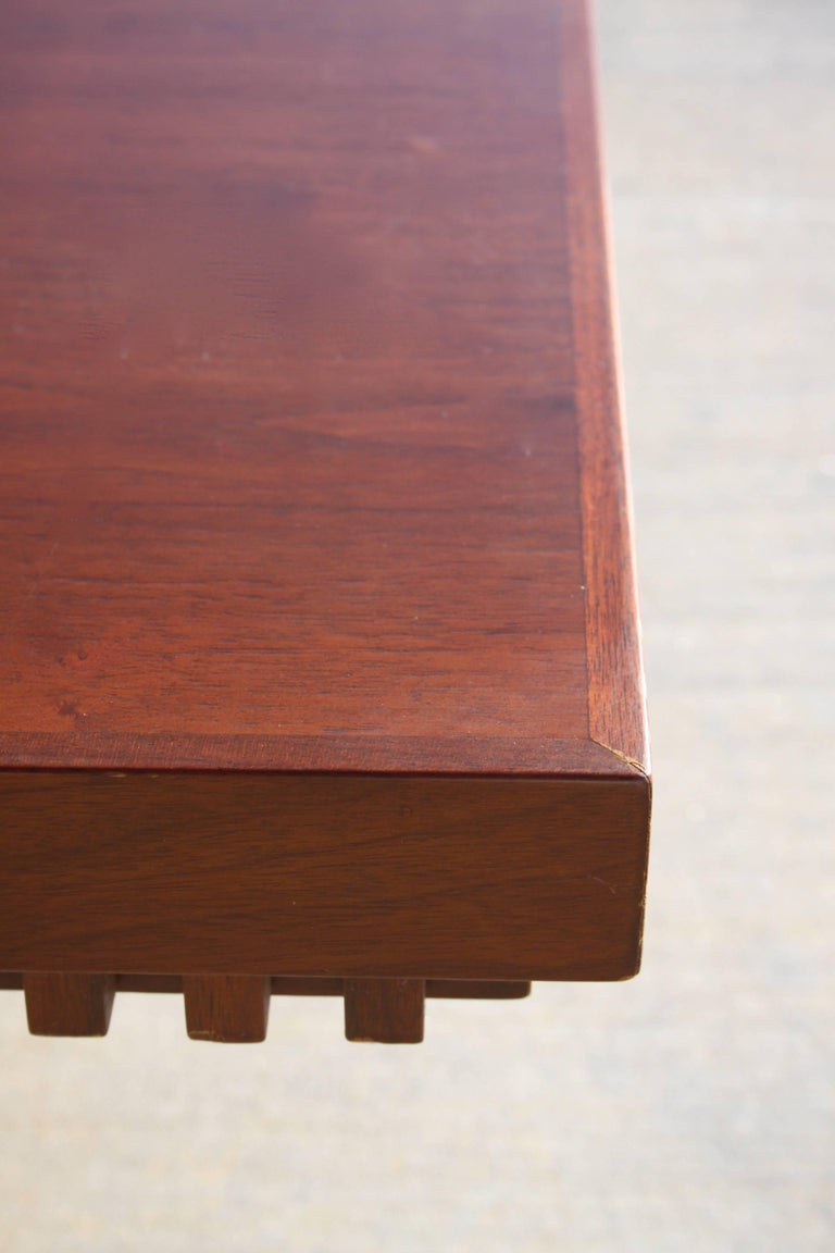 Walnut Architect Fred M. Kemp Custom Coffee Table in the style of Frank Lloyd Wright For Sale