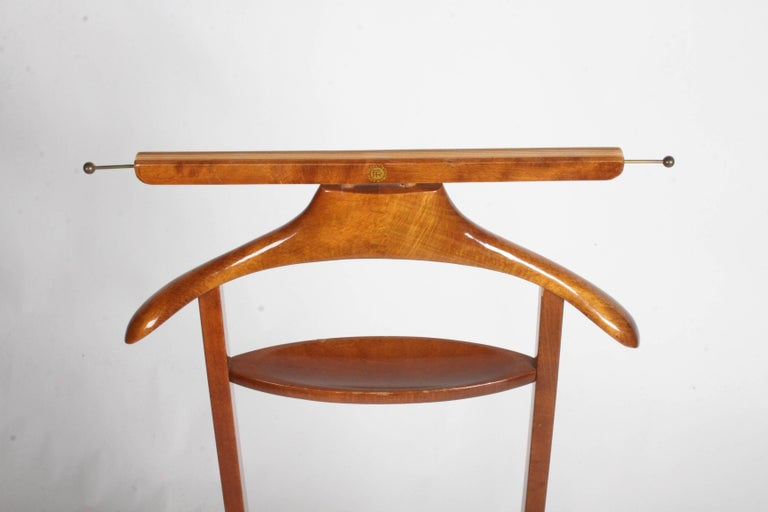 Beech Italian Midcentury Clothes Valet by Fratelli Reguitti For Sale